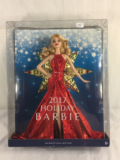 "Collector NIP 2017 Mattel Holiday Celebration Barbie Doll 11-12"" Tall Doll - See Pictures"