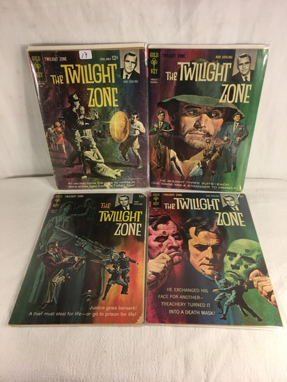 Lot of 4 Pcs Collector Vintage Gold Key Comics The Twilight Zone Comic Books
