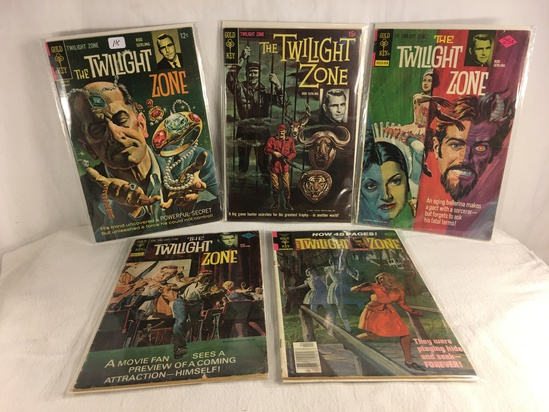 Lot of 5 Pcs Collector Vintage Gold Key Comics The Twilight Zone Comic Books