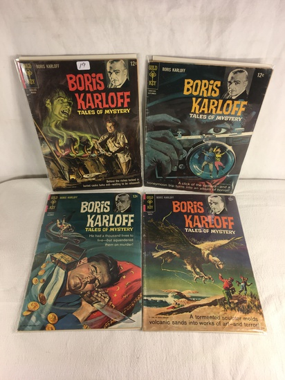 Lot of 4 Pcs Collector Vintage Gold Key Comics Boris Karloff Tales Of Mystery Comic Books