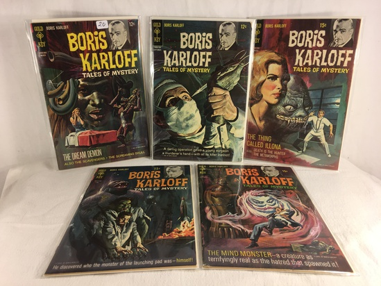 Lot of 5 Pcs Collector Vintage Gold Key Comics Boris Karloff Tales Of Mystery Comic Books