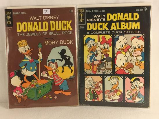Lot of 2 Pcs Collector Vintage Gold Key Comics Walt Disney Donald Duck Comic Books