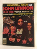 Collector Memorial Issue John lennon 1940-1980 You'll Never Die Magazine