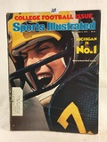 Collector Vintage 1976 Sports Illustrated College Football Issue Michigan Is No.1