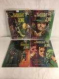 Lot of 4 Pcs Collector Vintage Gold Key Comics The Twilight Zone Comic Books
