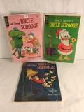 Lot of 3 Pcs Collector Vintage Gold Key Uncle Scrooge Comic Books walt Disney's
