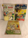 Lot of 3 Pcs Collector Vintage Archie Series Life With Archie Comic Books