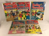 Lot of 5 Collector Vintage Archie Series Betty & Veronica Comic Books No.130.136.137.139.170