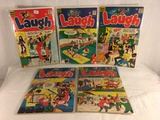 Lot of 5 Collector Vintage Archie Series LAUGH Comic Books No.182.187.189.195.253.