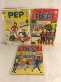 Lot of 3 Pcs Collector Vintage Archie Series PEP Comic Books No.170.204.206.