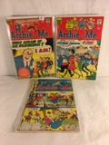 Lot of 3 Pcs Collector Vintage Archie Series Archie and Me Comic Books No.13.15.60.