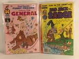 Lot of 2 Pcs Collector Vintage Harvey Comics Sad Sack Sarge & General Comic Books No.58.144.
