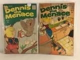 Lot of 2 Pcs Collector Vintage Hallden Fawcett Dennis The Menace Comic Books No.43.85.