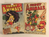 Lot of 2 Pcs Collector Vintage Hallden Fawcett  Funny Animals Comic Books No.17.25.