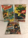 Lot of 3 Pcs Collector Vintage Charlton Comics Fightin' Army Comic Books No.96.144.147.
