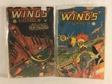 Lot  of 2 Pcs Collector Vintage ANC Comics Wings Comics Book No.14.110.