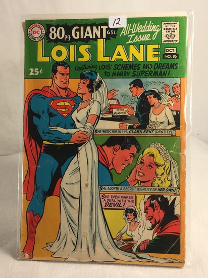 Collector Vintage DC Comics 80pg. Giant All-Wedding Issue  Lois Lane Comic Book No.86