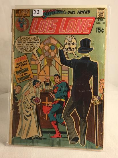 Collector Vintage DC Comics Superman's Girlfriend Lois Lane Comic Book No.108