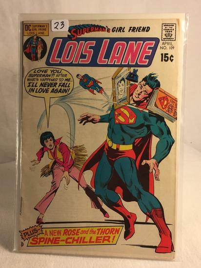 Collector Vintage DC Comics Superman's Girlfriend Lois Lane Comic Book No.109