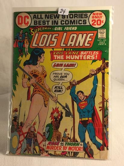 Collector Vintage DC Comics Superman's Girlfriend Lois Lane Comic Book No.124