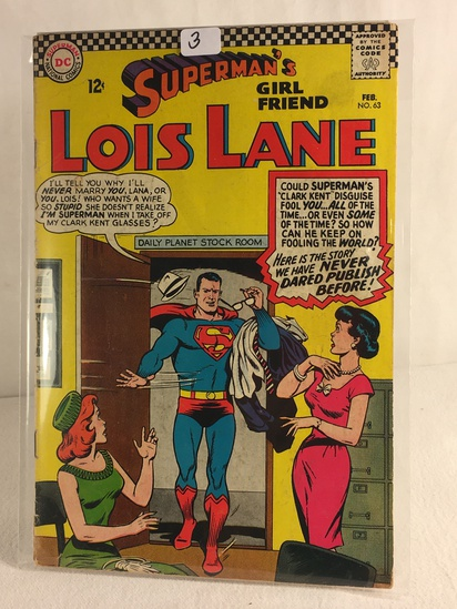 Collector Vintage DC Comics Superman's Girlfriend Lois Lane Comic Book No.63
