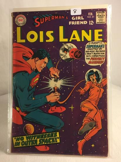 Collector Vintage DC Comics Superman's Girlfriend Lois Lane Comic Book No.81
