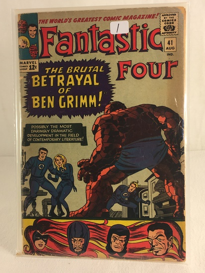 Collector Vintage Marvel Comics Fantastic Four Comic Book No.41