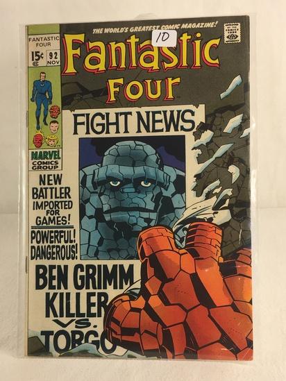 Collector Vintage Marvel Comics Fantastic Four Comic Book No.92