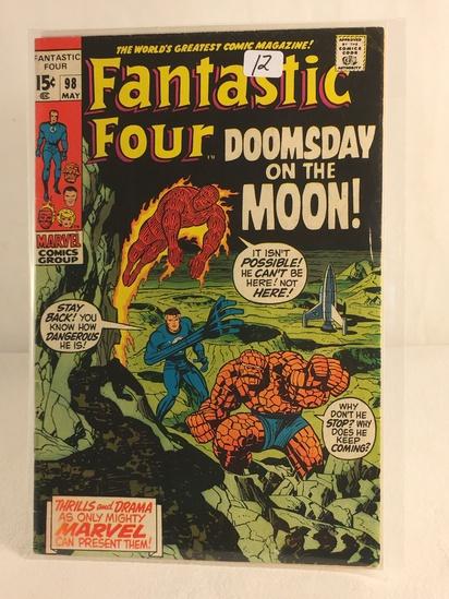 Collector Vintage Marvel Comics Fantastic Four Comic Book No.98