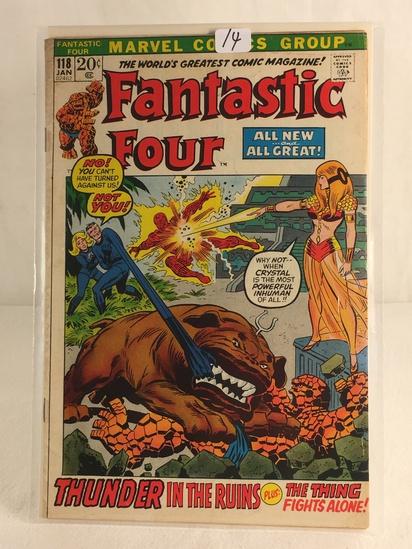 Collector Vintage Marvel Comics Fantastic Four Comic Book No.118