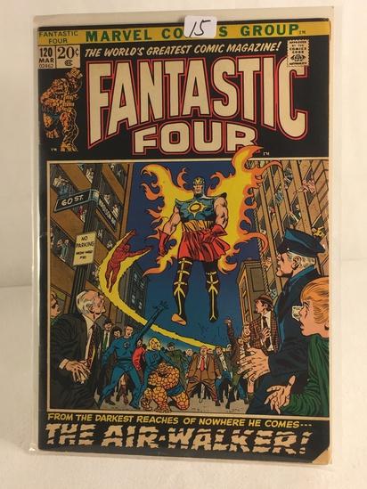 Collector Vintage Marvel Comics Fantastic Four Comic Book No.120