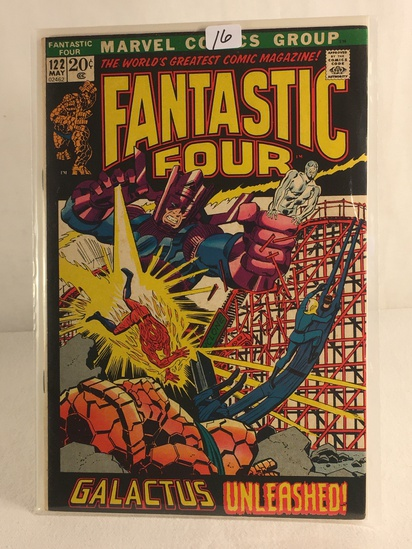 Collector Vintage Marvel Comics Fantastic Four Comic Book No.122