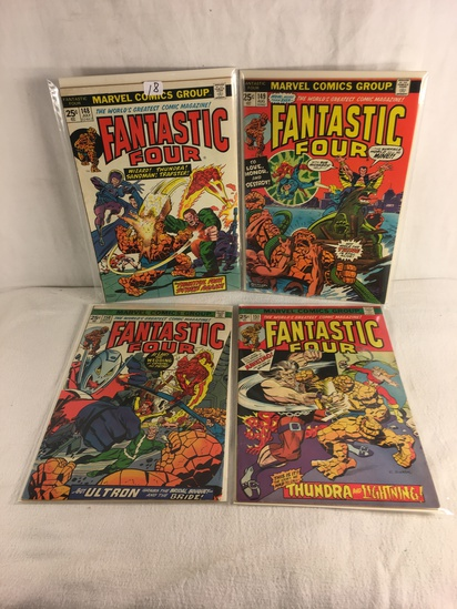 Lot of 4 Pcs Collector Vintage Marvel Comics Fantastic Four Comic Book No.148.149.150.151