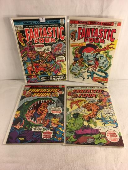 Lot of 4 Pcs Collector Vintage Marvel Comics Fantastic Four Comic Book No.152.158.161.166