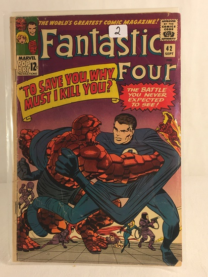 Collector Vintage Marvel Comics Fantastic Four Comic Book No.42