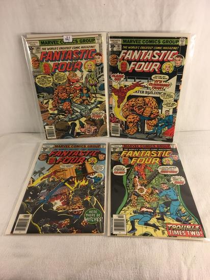 Lot of 4 Pcs Collector Vintage Marvel Comics Fantastic Four Comic Book No.180.181.185.187.
