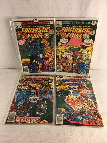 Lot of 4 Pcs Collector Vintage Marvel Comics Fantastic Four Comic Book No.194.196.198.199