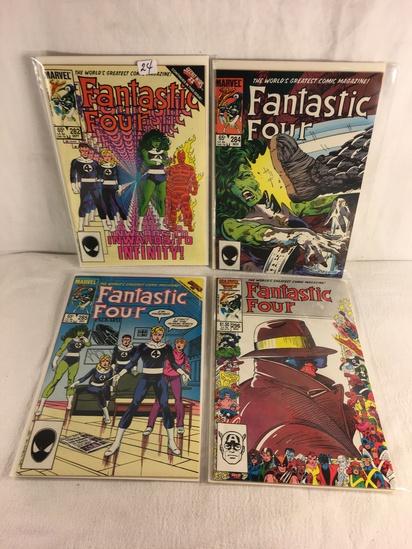 Lot of 4 Pcs Collector Vintage Marvel Comics Fantastic Four Comic Book No.282.284.285.296