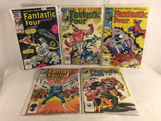 Lot of 5 Pcs Collector Vintage Marvel Comics Fantastic Four Comic Book No.297.298.299.302.303