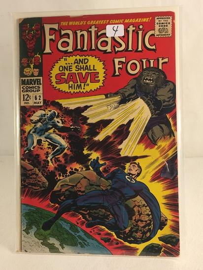 Collector Vintage Marvel Comics Fantastic Four Comic Book No.62