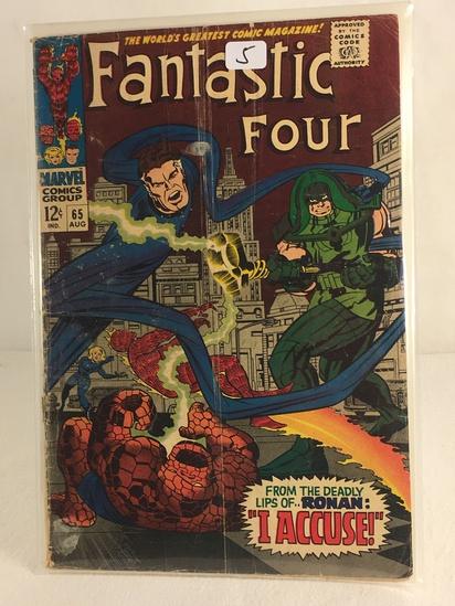 Collector Vintage Marvel Comics Fantastic Four Comic Book No.65