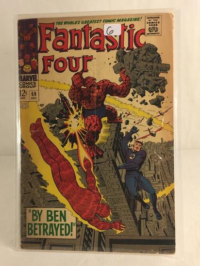 Collector Vintage Marvel Comics Fantastic Four Comic Book No.69