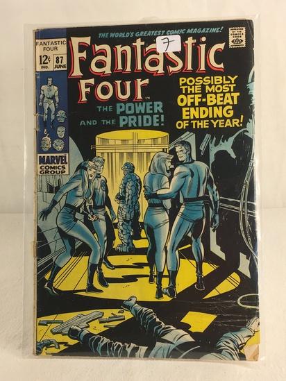 Collector Vintage Marvel Comics Fantastic Four Comic Book No.87