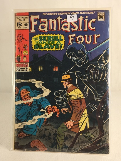 Collector Vintage Marvel Comics Fantastic Four Comic Book No.90