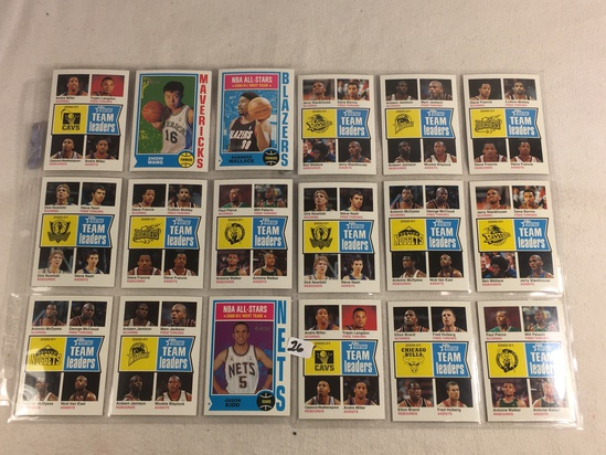Lot of 18 Pcs Collector Vintage Assorted Basketball Sport Players Trading Cards - See Pictures