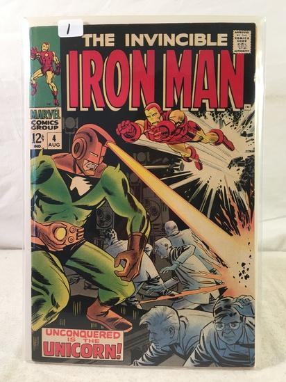 Collector Vintage Marvel Comics The Invincible IRON MAN Comic Book No.4
