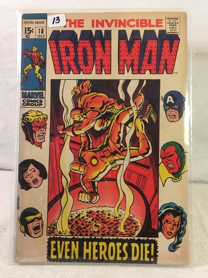 Collector Vintage Marvel Comics The Invincible IRON MAN Comic Book No.18