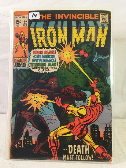 Collector Vintage Marvel Comics The Invincible IRON MAN Comic Book No.22