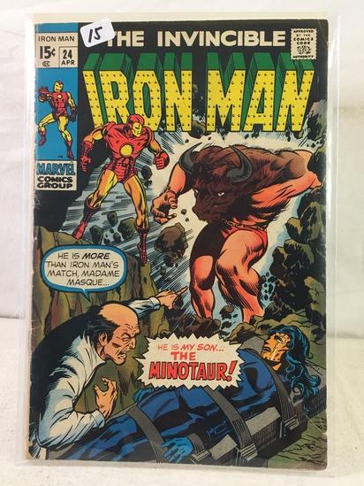 Collector Vintage Marvel Comics The Invincible IRON MAN Comic Book No.24