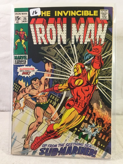 Collector Vintage Marvel Comics The Invincible IRON MAN Comic Book No.25